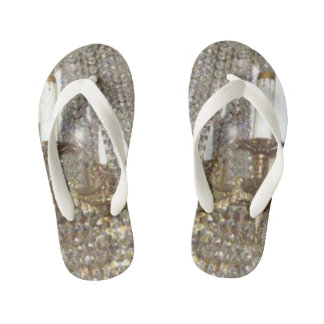 Bling print pattern kid's flip flops thongs
