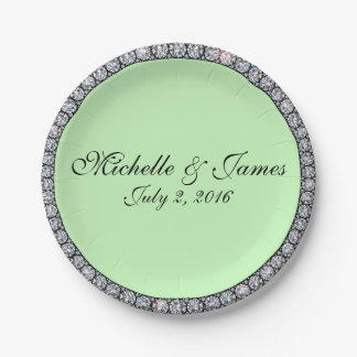 Bling ring paper plates 7 inch paper plate