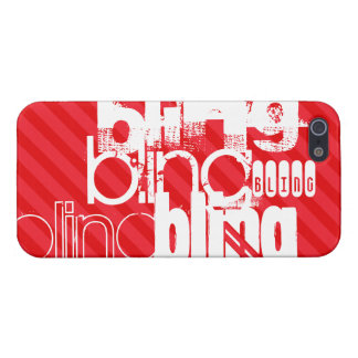 Bling; Scarlet Red Stripes Cover For iPhone 5/5S