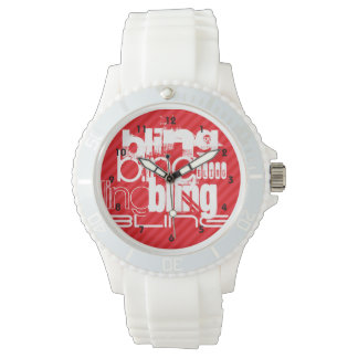 Bling; Scarlet Red Stripes Watch