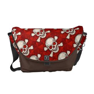 Bling Skull,and Bones Messenger Bags