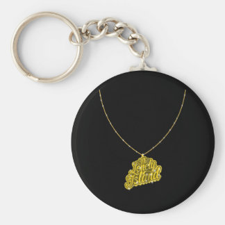 Bling Small Basic Round Button Key Ring