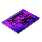 Bling; Vibrant Violet Blue and Magenta Notebook