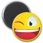 Blinking Smile Fridge Magnets
