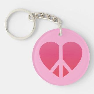 """Bliss"" Circle (single-sided) Keychain"