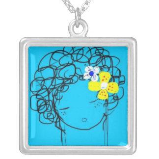 Bliss - Mimi Yoya Girl Square Pendant Necklace