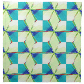 Bliss Pattern In Blue and Green Napkin