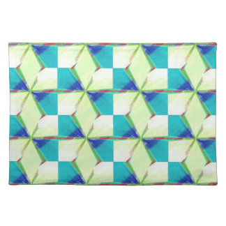 Bliss Pattern In Blue and Green Placemat