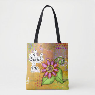 Bliss Positive Thought Doodle Flower Bag