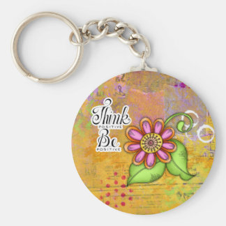 Bliss Positive Thought Doodle Flower Keyring