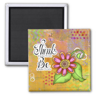 Bliss Positive Thought Doodle Flower Magnet