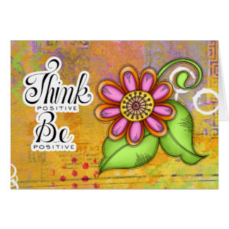 Bliss Positive Thought Doodle Flower Note Card