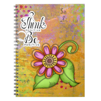Bliss Positive Thought Doodle Flower Notebook