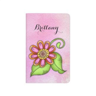 Bliss Watercolor Doodle Flower Journal