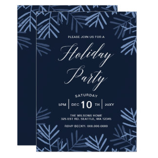 Blissful Branches Modern holiday Party Card