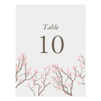 Blissful Branches Table Numbers Postcard