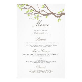 Blissful Branches Wedding Dinner Menu