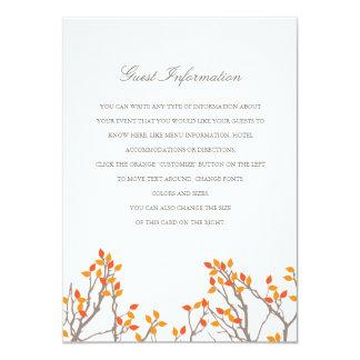 Blissful Branches Wedding Insert 11 Cm X 16 Cm Invitation Card