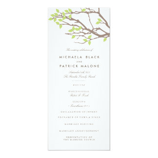 Blissful Branches Wedding Program 10 Cm X 24 Cm Invitation Card