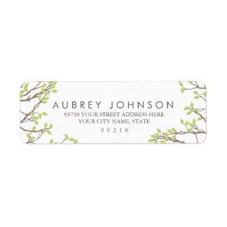 Blissful Branches Wedding Return Address Label