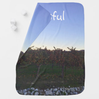 Blissful Motivational Quote Winery Photograph Pram blankets