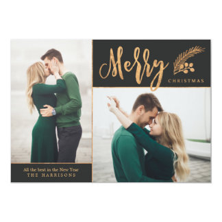 Blissful   Photo Holiday Card