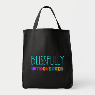 Blissfully Introverted Tote Bag - Grocery Bag