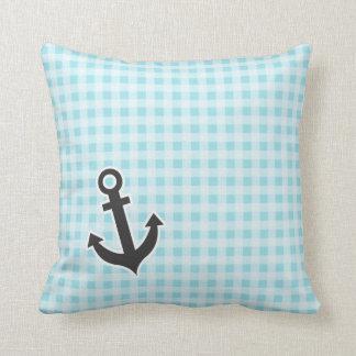 Blizzard Blue Gingham; Anchor Cushions