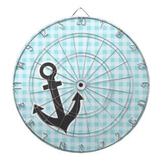 Blizzard Blue Gingham; Anchor Dart Boards