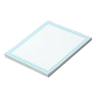 Blizzard Blue Gingham Checkered Memo Note Pad