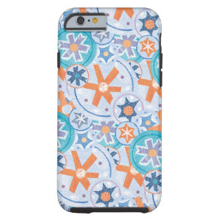 Blizzard Blue Snowflakes Winter Christmas Holiday Tough iPhone 6 Case
