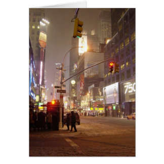 Blizzard in the City Blank Card