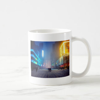 Blizzard In Times Square Coffee Mug