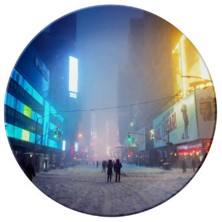 Blizzard In Times Square Plate