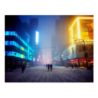 Blizzard In Times Square Postcard