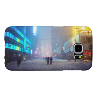 Blizzard In Times Square Samsung Galaxy S6 Cases