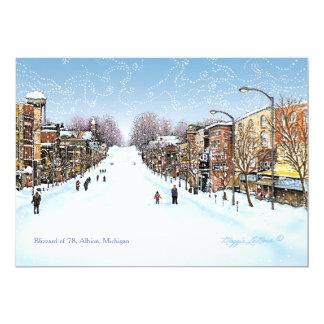 Blizzard scene, Albion Michigan Card