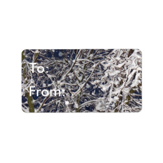 Blizzard Tree Winter To/From Gift Tag Address Label