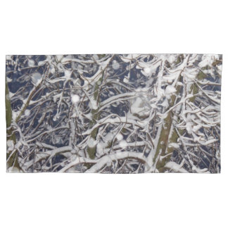 Blizzard Tree (with Snow Covered Branches) Photo Pillowcase