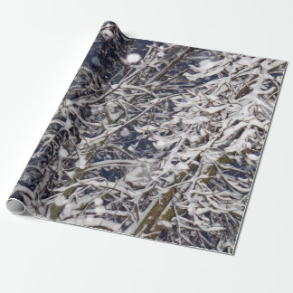 Blizzard Tree (with Snow Covered Branches) Photo Wrapping Paper