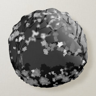 blk and white design home decor round cushion