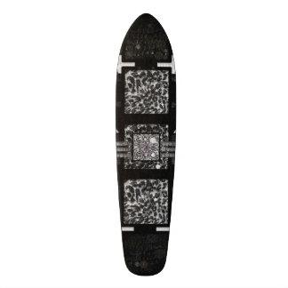 Blk&Wht Leopard Pattern Skate Board
