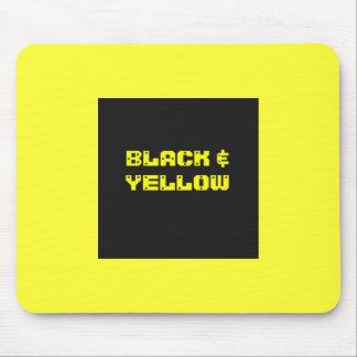 Bllack Yellow Household Goods Mousepad