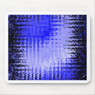Bllue & White waves Mouse Pad