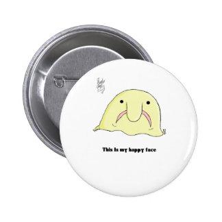 Blobfish 6 Cm Round Badge