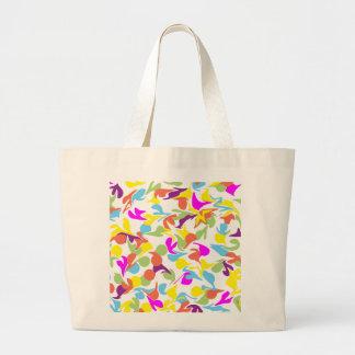 Blobs of Color Abstract Art Design Jumbo Tote Bag