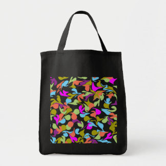 Blobs of Color Abstract Art Design Grocery Tote Bag