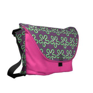 Blobs pattern messenger bags