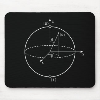 Bloch Sphere | Quantum Bit (Qubit) Physics / Math Mouse Pad