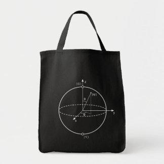 Bloch Sphere | Quantum Bit (Qubit) Physics / Math Tote Bag